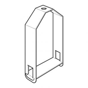 Legrand Salamadre MGR44H Galvanised Single Compartment Trunking Stirrup Hanger With M10 Hole 100mm x