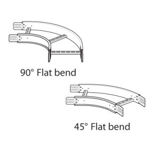 Legrand Swifts PFB600G 600mm Heavy Duty 90° Flat Bend