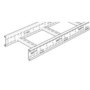 Legrand Swifts ZL150G 150mm Medium Duty Ladder Rack Galvanised 3 Metre Length