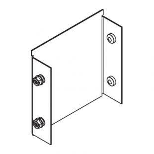 Legrand Salamandre MGR66E Galvanised Single Compartment Trunking Stop End 150mm x 150mm