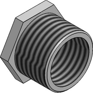 Steel Conduit Reducer 20mm To 16mm - Zinc Plated