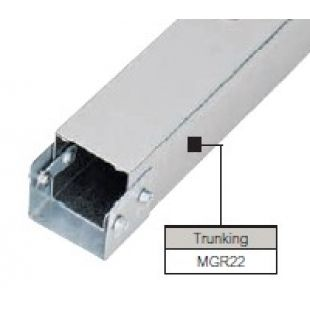 Legrand Salamandre MGR22 Galvanised Single Compartment Trunking 50mm x 50mm 3 Metre Length