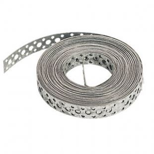 12mm All Round Fixing Band Straight Pre Galvanised 10 Metre Roll
