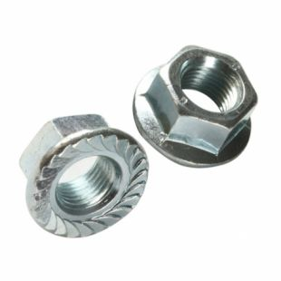 M8 BZP Serrated Flange Nut