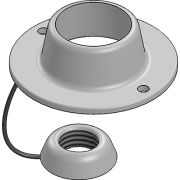 20mm Galvanised Ball & Socket Cover