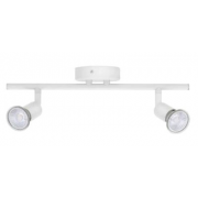 Bell 10379 Luna Twin GU10 Spotlight - White, IP20