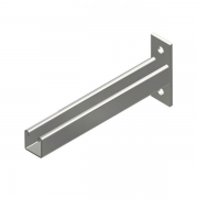 Galvanised 300mm Plain Universal Cantilever Arm With 2 Bolt Fixing