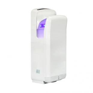 Airmaster 800W + 1100W High Speed Jet Blade Hand Dryer White
