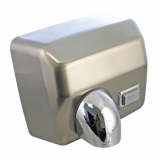 Airmaster 2.5kW Heavy Duty Push Button Hand Dryer Chrome Non Inductive Motor With Over Heat Protecti