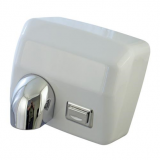 Airmaster 2.5kW Heavy Duty Push Button Hand Dryer White Non Inductive Motor With Over Heat Protectio