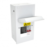 CED Axiom 2 Way Metal Consumer Unit c/w 100A Isolator