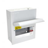 CED Axiom 6 Way Metal Consumer Unit c/w 100A Isolator
