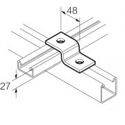 Galvanised 2 Hole Z Bracket for 21mm x 41mm Channel Unistrut Compatible
