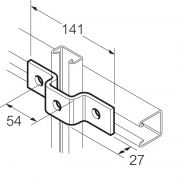 Galvanised 3 Hole U Bracket for 41mm x 21mm Channel Unistrut Compatible