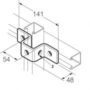 Galvanised 5 Hole U Bracket for 41mm x 41mm Channel Unistrut Compatible