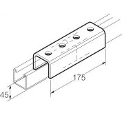Galvanised External Channel Jointing Coupler 45mm x 175mm Unistrut Compatible