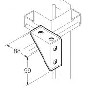 Galvanised 90° Welded Angle Shelf Bracket 88mm x 99mm Unistrut Compatible