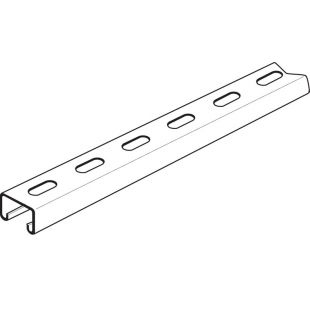 Stainless Steel Slotted Channel 41mm x 21mm 3 Metre Length