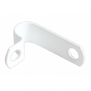 AP7 7.0mm White LSF Coated Copper P Clip Pack Of 100