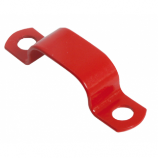 8.0mm - 9.0mm Red LSF Coated Copper Saddle Clip Pack Of 100