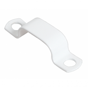 7.0mm - 8.0mm White LSF Coated Copper Saddle Clip Pack Of 100