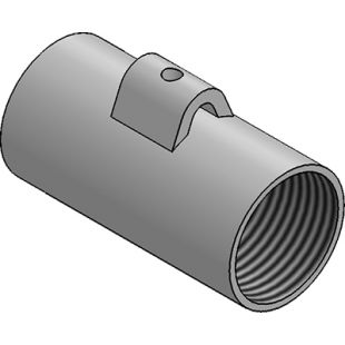 25mm Galvanised Earth Coupler