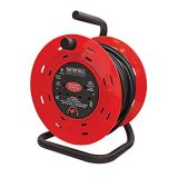 Faithfull Open Drum Cable Reel 240 Volt 50 Metre 13 Amp 2 Socket