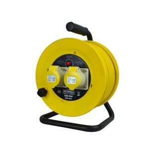 Faithfull Cable Reel 110V 16A 50 Metre 1.5mm Cable