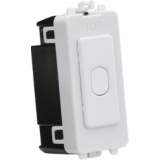 Knightsbridge 1G 2 Way 10-200W (10-100W LED) Trailing Edge Dimmer (Press Type) - Matt White