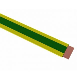 PVC Covered Copper Tape Green & Yellow 25mm x 3.0mm Per Metre
