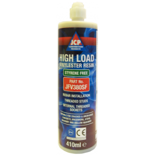 JCP Vinylester High Load Resin In Cartridge + 1 Mixer Nozzle 380ml