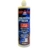 JCP Grey Polyester Resin In Cartridge + 1 Mixer Nozzle 380ml
