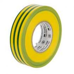 Insulation Tape Green & Yellow 19mm x 33 Metre