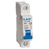 Live CB106B 6A 10kA Single Pole Type B Curve MCB