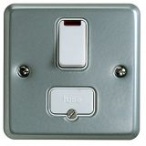 MK K962ALM Metalclad Plus Double Pole Switched Connection Unit With Neon & Surface Mounting Box 13A
