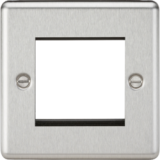 Knightsbridge 2G Modular Faceplate - Rounded Edge Brushed Chrome
