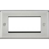 Knightsbridge 4G Modular Faceplate - Rounded Edge Brushed Chrome