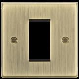 Knightsbridge 1G Modular Faceplate - Square Edge Antique Brass