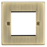 Knightsbridge 2G Modular Faceplate - Square Edge Antique Brass