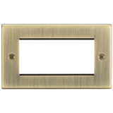 Knightsbridge 4G Modular Faceplate - Square Edge Antique Brass