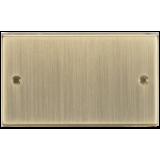 Knightsbridge 2G Blanking Plate - Square Edge Antique Brass