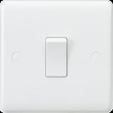 Knightsbridge Curved Edge 10A 1G 1 Way Switch
