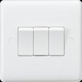 Knightsbridge Curved Edge 10A 3G 2 Way Switch