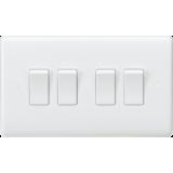Knightsbridge Curved Edge 10A 4G 2 Way Switch