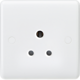 Knightsbridge Curved Edge 5A Unswitched Round Pin Socket