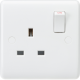Knightsbridge Curved Edge 13A 1G SP Switched Socket