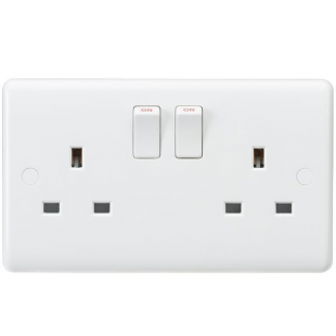 Knightsbridge Curved Edge 13A 2G DP Switched Socket