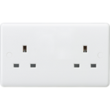 Knightsbridge Curved Edge 13A 2G Unswitched Socket