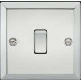 Knightsbridge 10A 1G Intermediate Switch - Bevelled Edge Polished Chrome