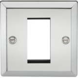 Knightsbridge 1G Modular Faceplate - Bevelled Edge Polished Chrome